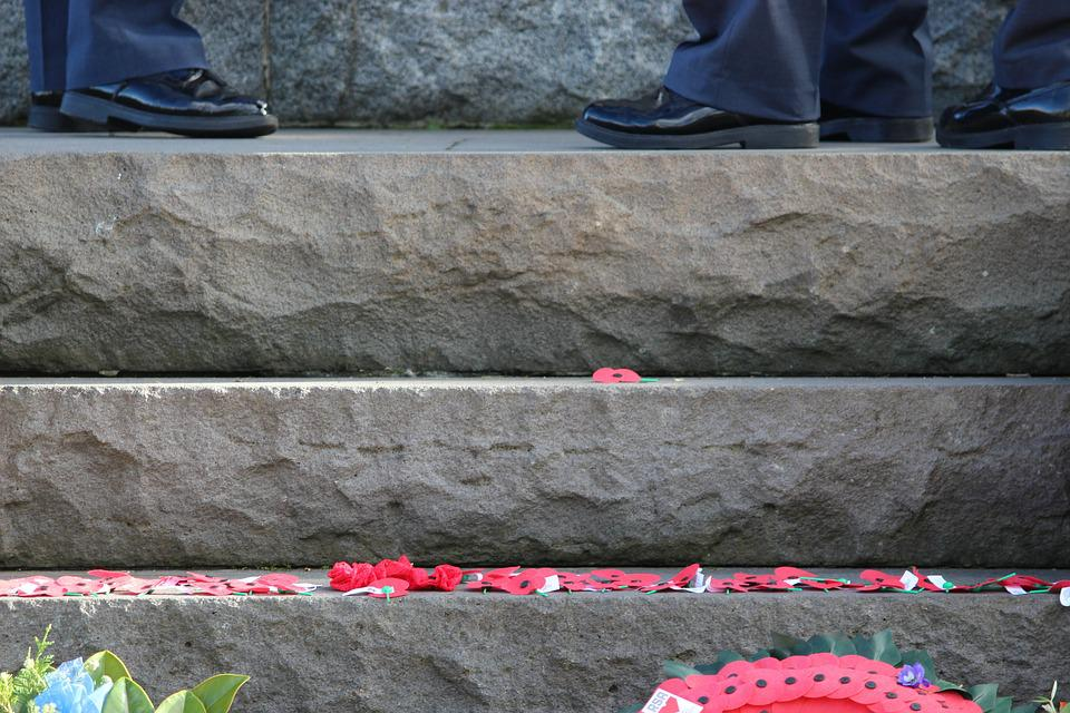Steps, Poppy, Poppies, Red, Bloom, Rock, Shoes
