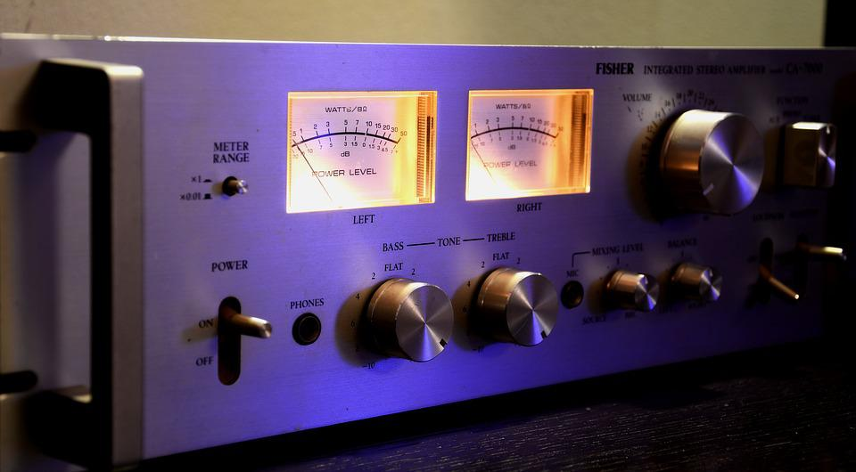 Stereo Amplifier, Music, Event, Play, Old, Light