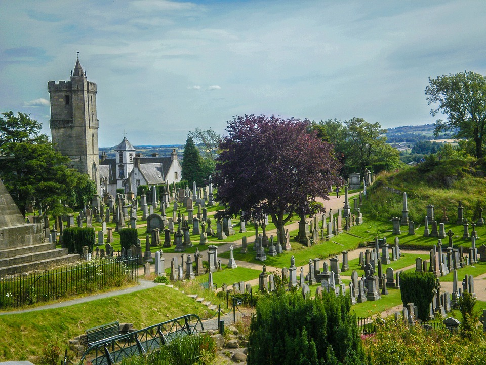 Scotland, Sky, Sterling, Sterling Castle, Cemetery