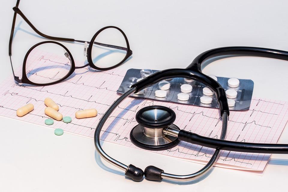 Ecg, Electrocardiogram, Stethoscope, Heartbeat, Heart
