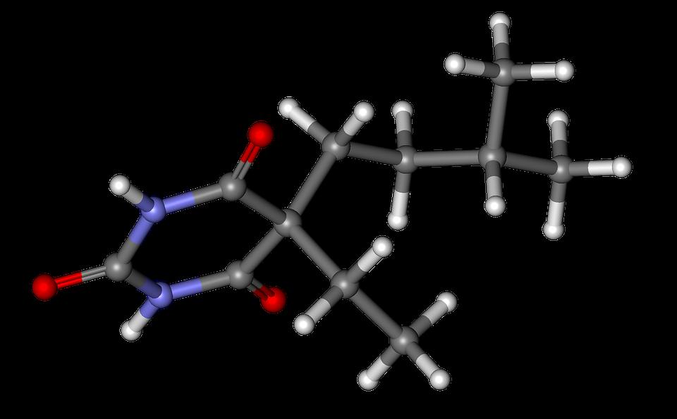 Amobarbital, Ball, Stick, Model, Molecule, Compound