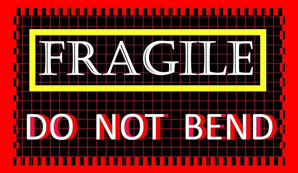 Fragile, Tag, Label, Sticker, Not Bend, Mail, Parcel