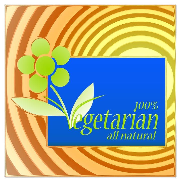 Vegetarian, Nutrition, Sticker, Inscription, Caption