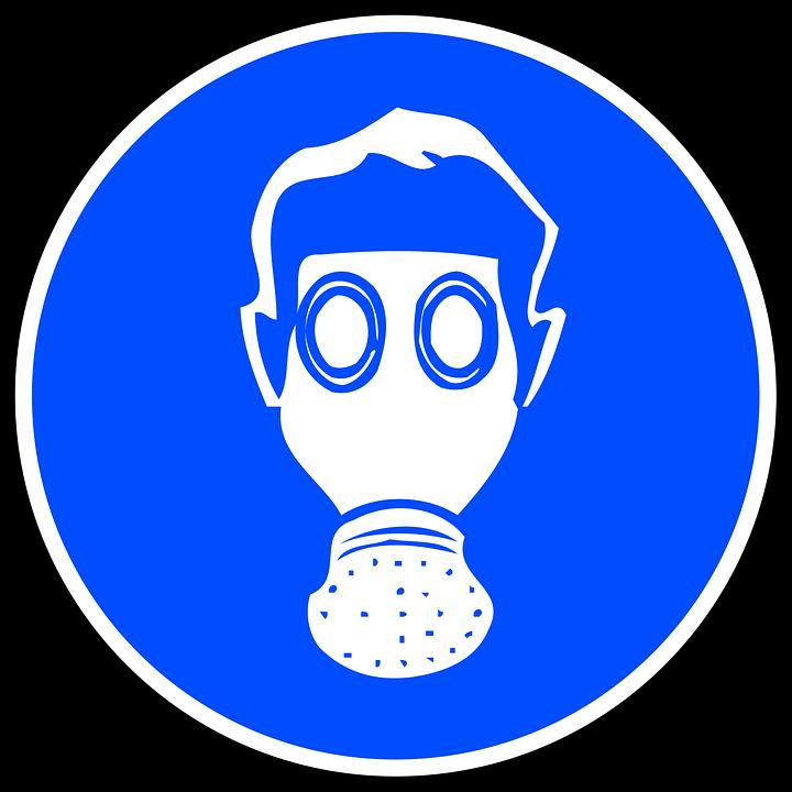 Signs, Sticker, Respiration, Mandatory, Respirator