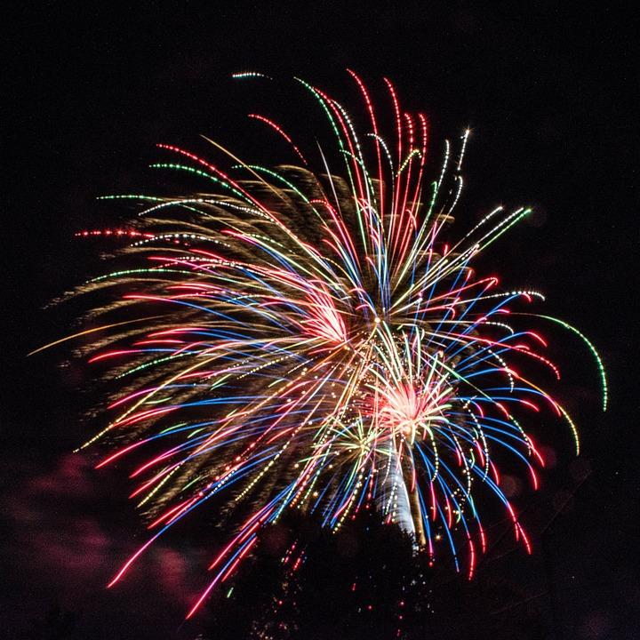 Still, Light, Fireworks, Display, Colors, Night, Sky
