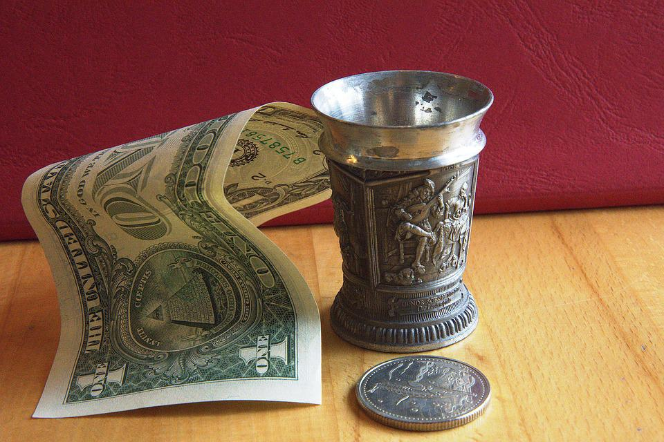 Still Life, Cup, Old, Service, Tin