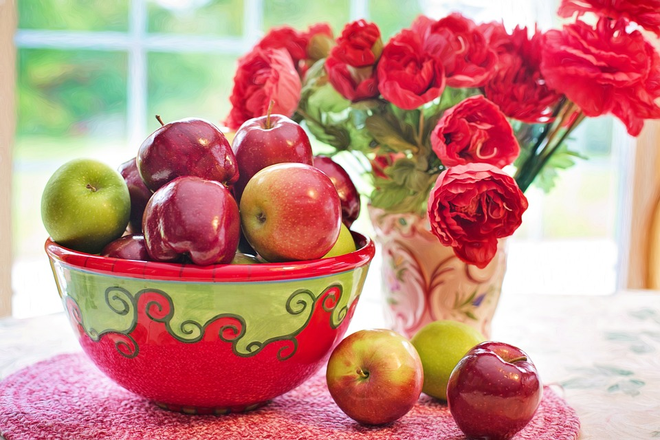 Apples, Red, Bowl, Still Life, Fruit, Natural, Fresh