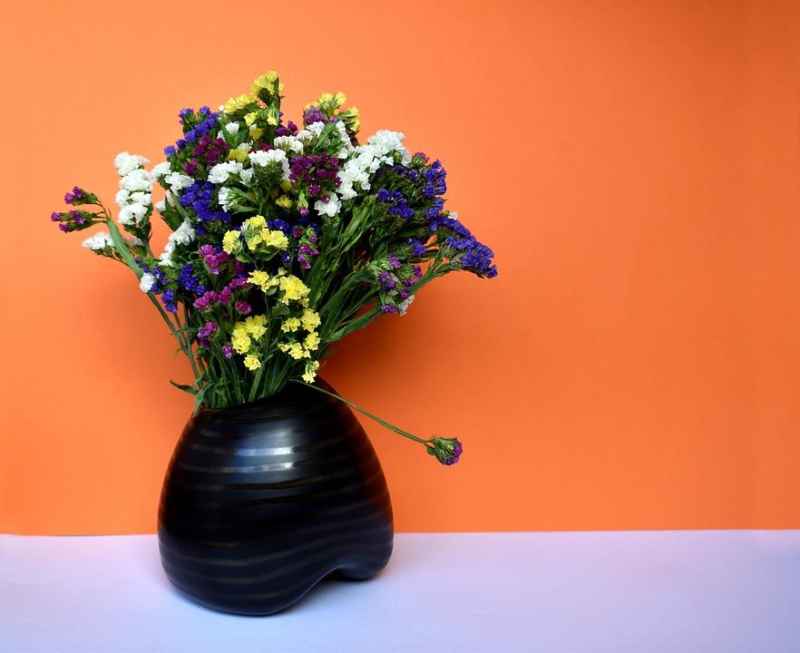 Still Life, Still-life, Flowers, Limonium, Bouquet