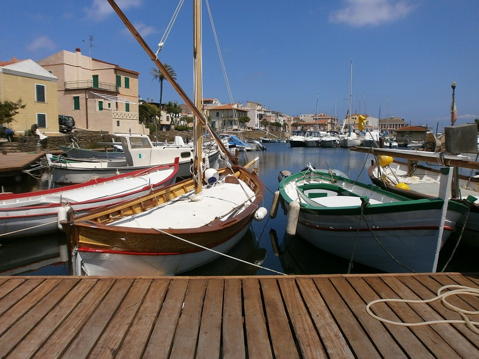 Port, Stintino, Pumps, Ship, Pier, Summer, Holiday
