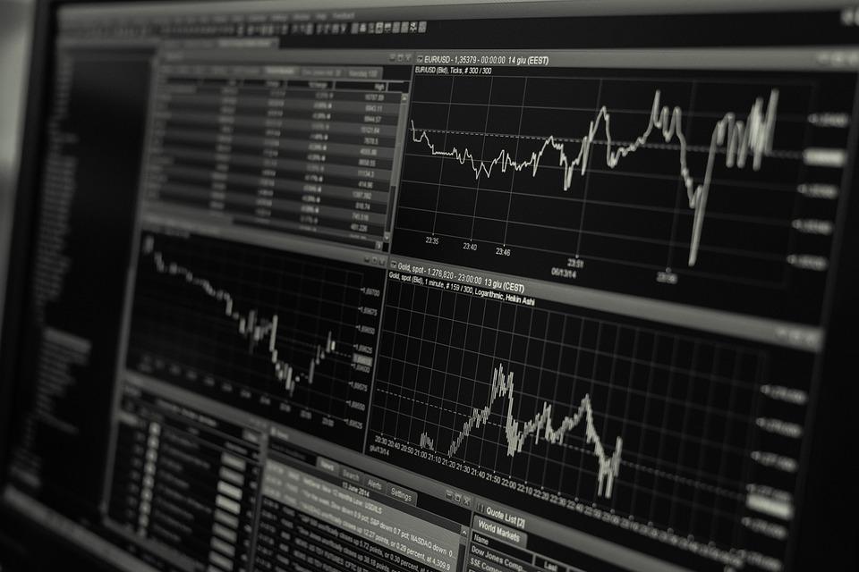 Stock, Trading, Monitor, Desk, Business, Finance