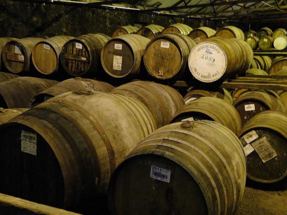Whisky, Barrels, Islay, Wooden Barrels, Keller, Stock