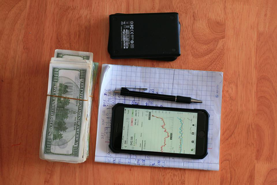Dollars, Mobile Phone, Stock Market, Iphone, Stack