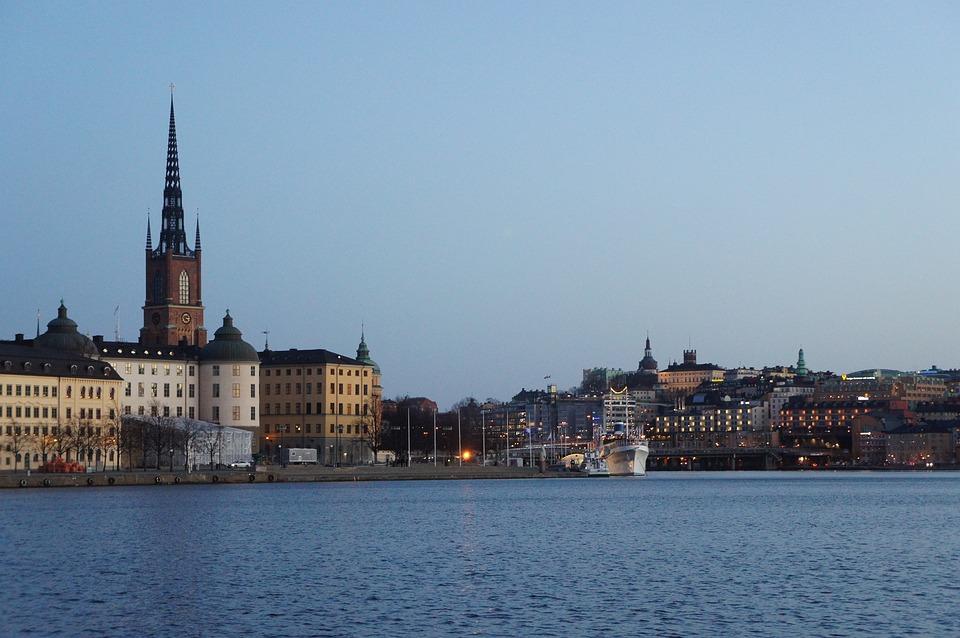 Stockholm, City, Building, Evening, The Urban Landscape