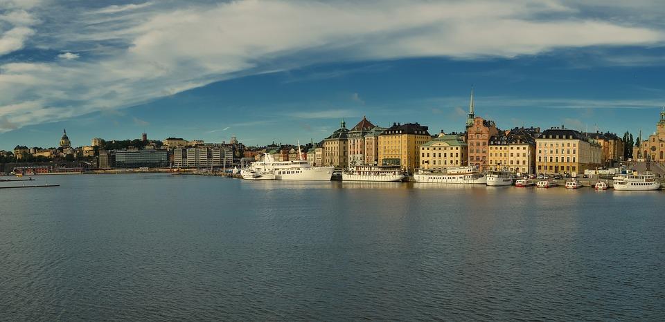 Stockholm, Sweden, Sea, City, Ship, Old Town, Landscape