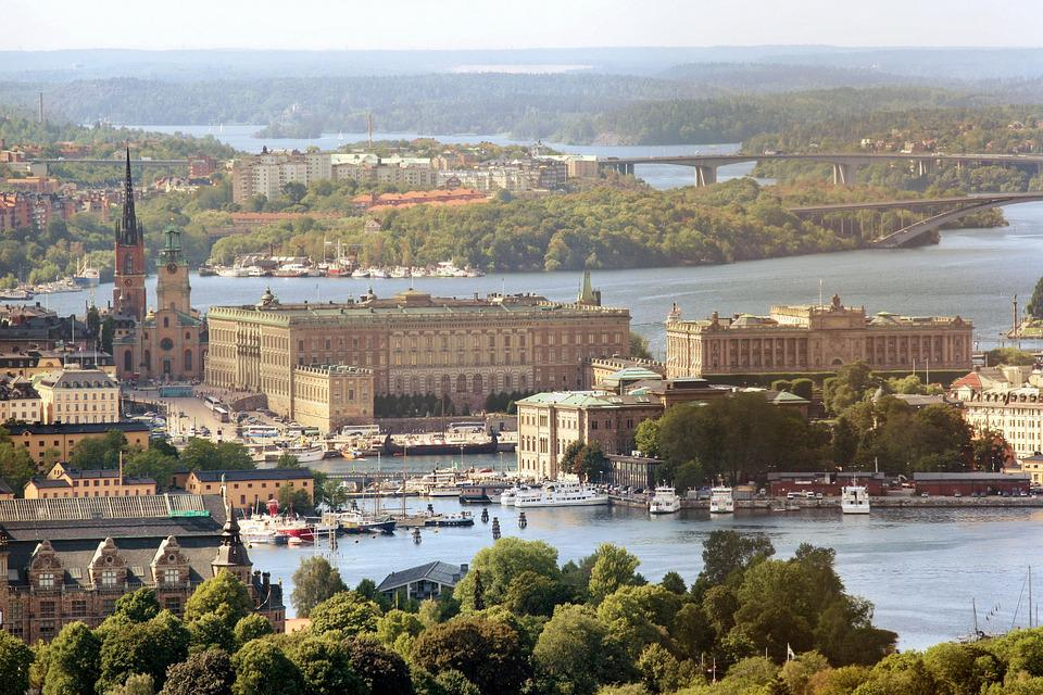 Royal Palace, Sweden, Stockholm, Air Photo