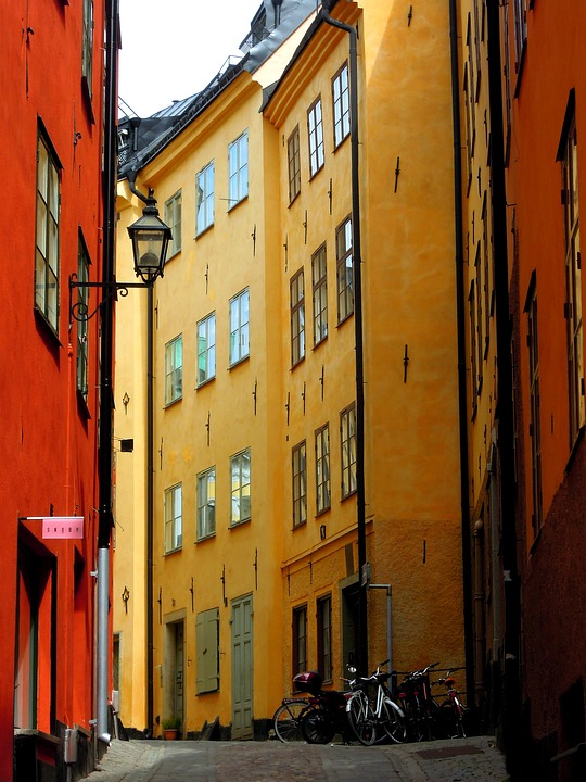 Stockholm, Gamla Stan, Old Town, Street, Architecture