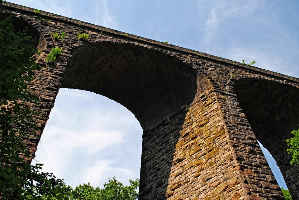 Railway, Bridge, North, Stone, Gorge, Architecture