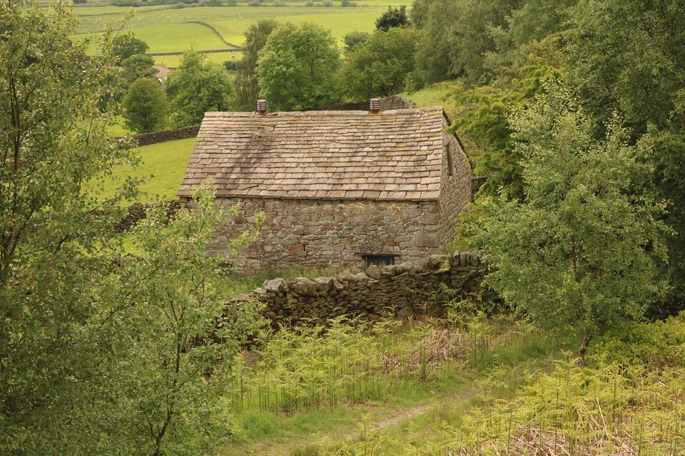 Yorkshire, Stone Barn, Building, Stone, Weathered