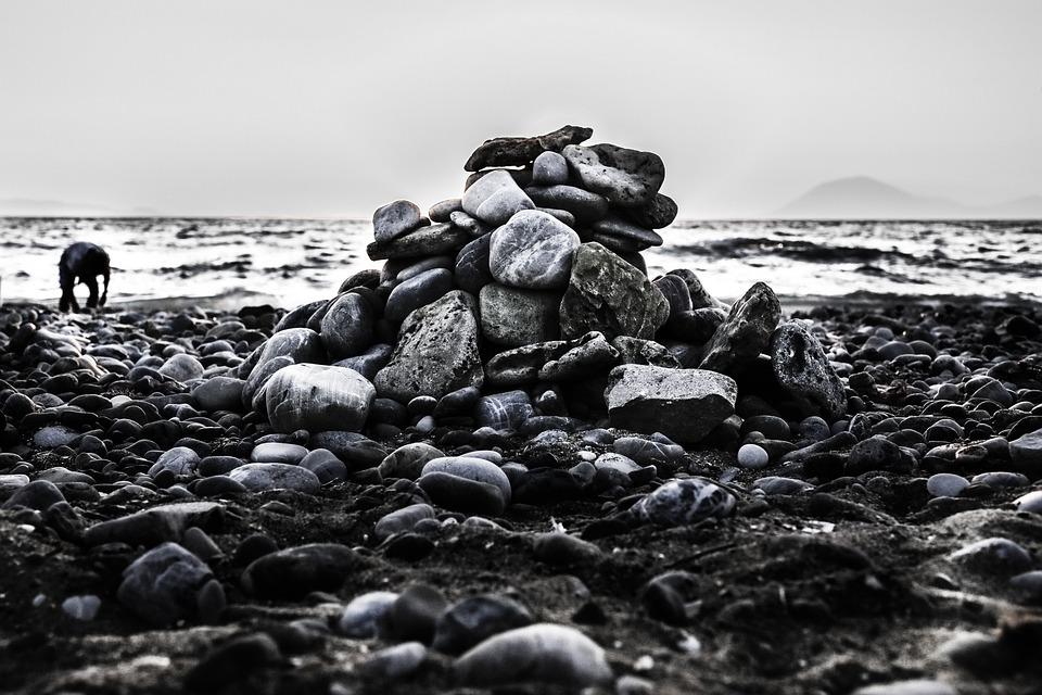 Stones, Beach, Sea, Coast, Water, Stone, Rock