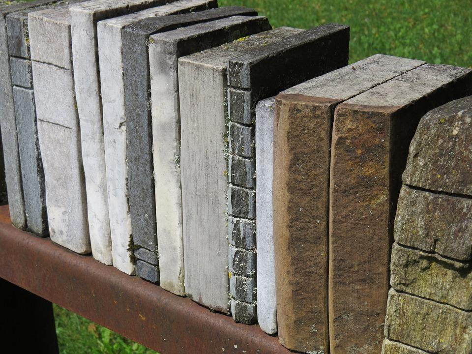 Book, Books, Library, Shelf, Sculpture, Stone
