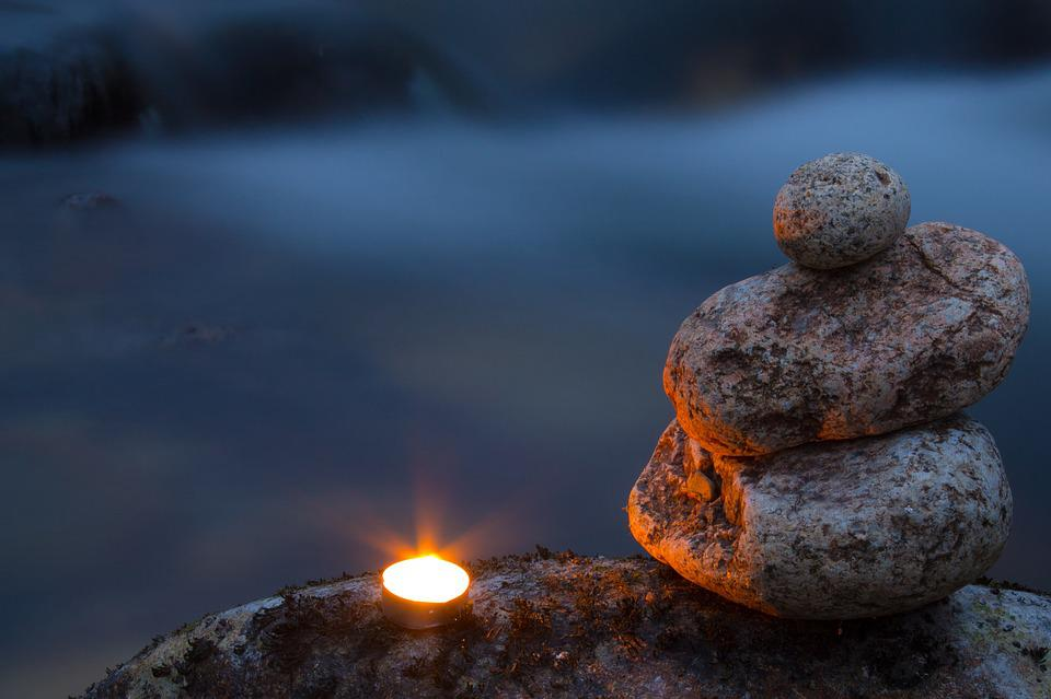 Candle, Peace, Zen, Stone, Quite, Burning, Tranquil