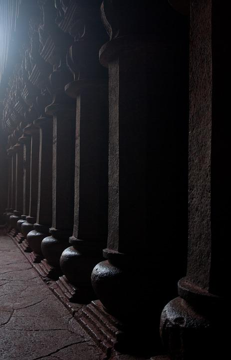 Karla Caves, Pillars, Buddhism, Caves, Stone Carvings