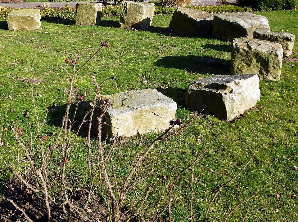 Stones, Stone Circle, Meadow