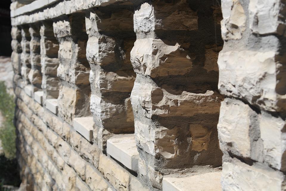 Stone Columns, Ornament, Stone, Wall, Old
