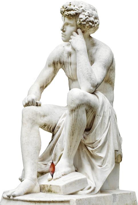Paris, Fig, Sculpture, Man, Stone, Sitting, Boy