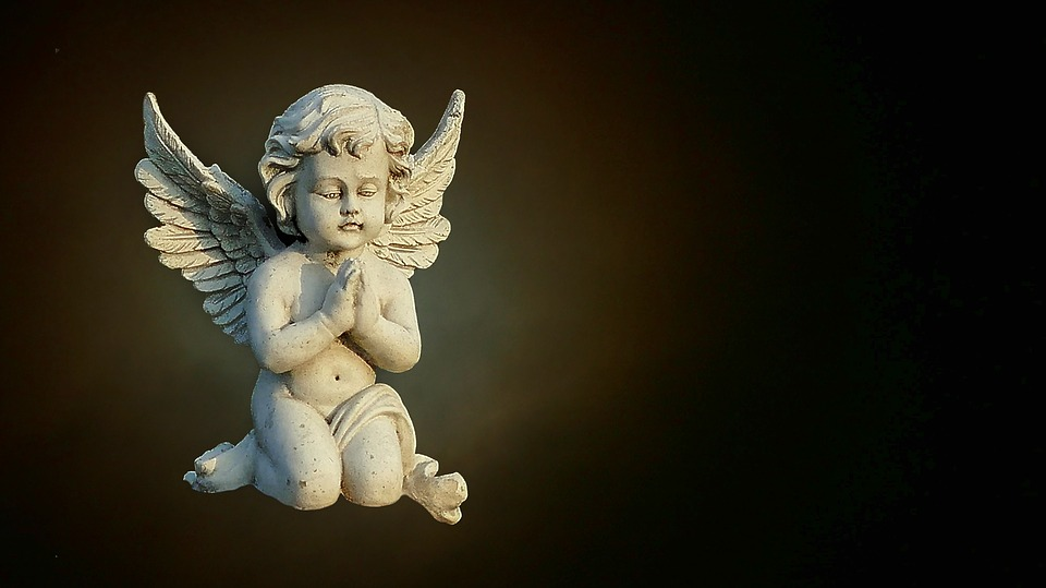 Art, Sculpture, Stone Figure, Angel, Mourning, Map