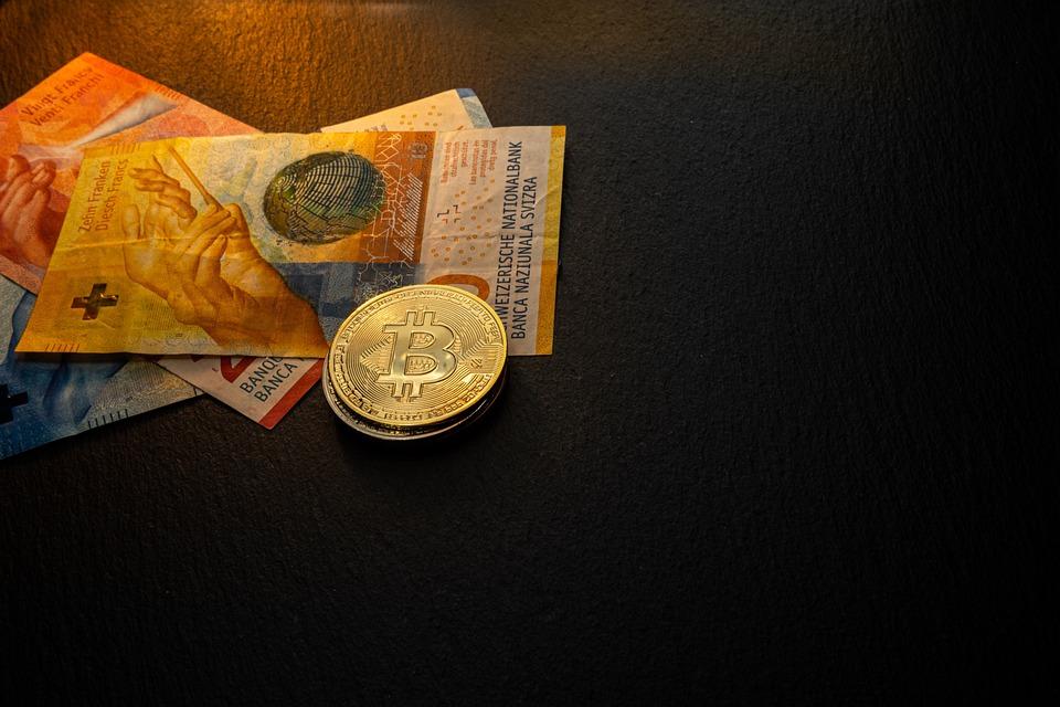Stone, Slate, Black, Bitcoin, Coin, Franc, Swiss