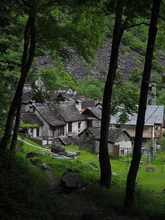 Bunch Of Village, Foroglio, Village, Stone Houses