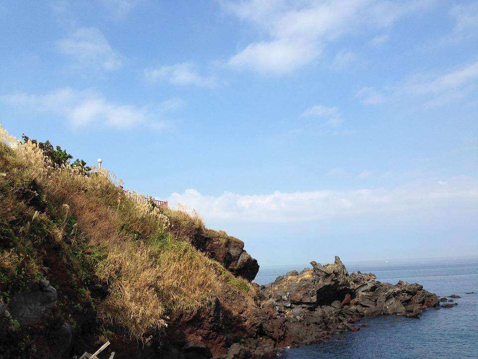Jeju Island, The Scenery, Islands, Stone, Rock, Sea