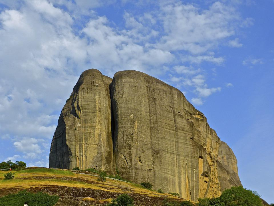 Boulder, Landmark, Meteora, Mountain, Landscape, Stone