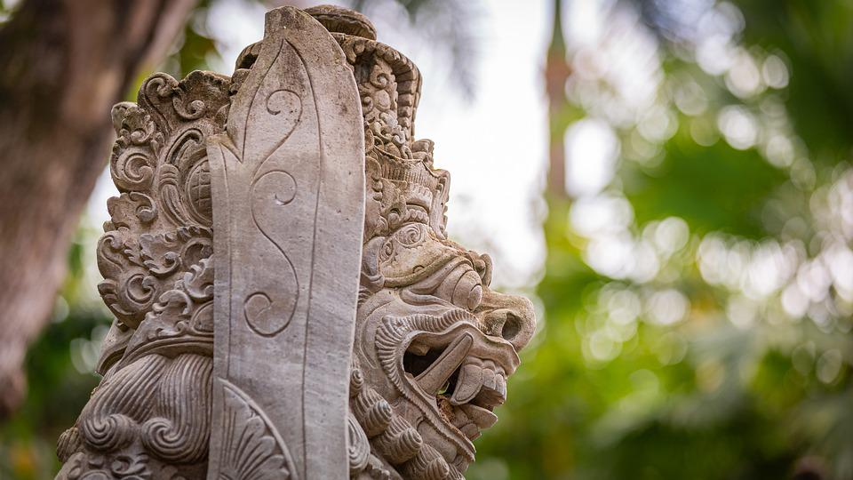 Statue, Indonesia, Stone, Large, Forest, Ancient