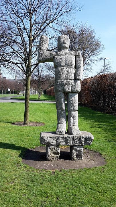 Stone, Man, Ireland, Park