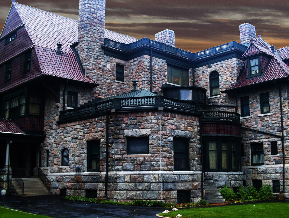Mansion, Estate, Stone, Home, Luxury, Residential