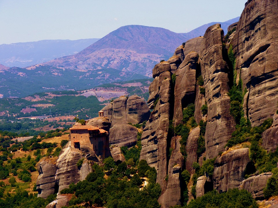 Meteora, Mountain, Landscape, Monastery, Greece, Stone