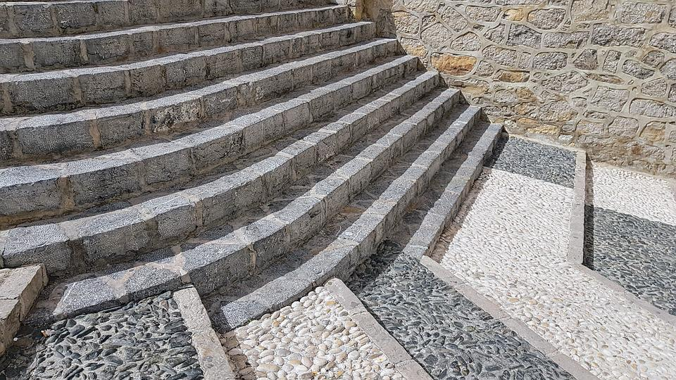 Stone, Architecture, Paving, Old, Altea, Spain, Stones