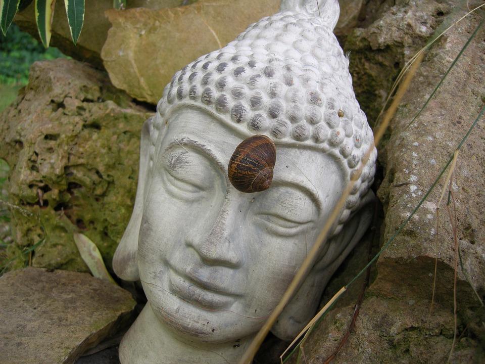 Buddha, Stirnchakra, Fig, Stone, Deity, Rest, Harmony