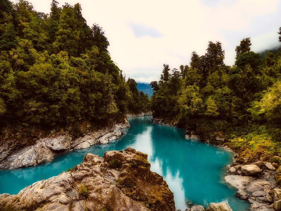 New Zealand, River, Stream, Landscape, Rocky, Stone
