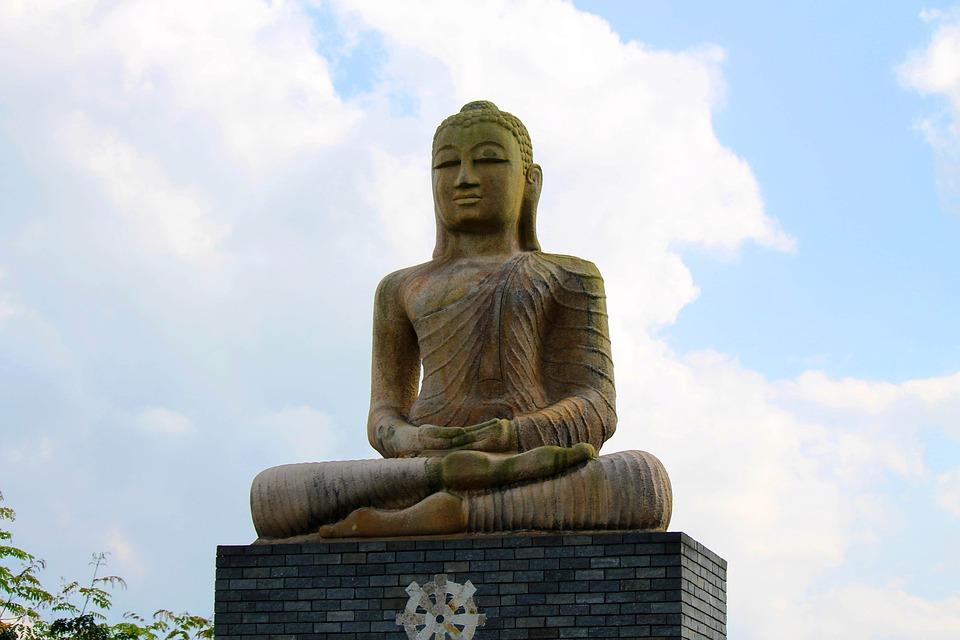Stone Sculpture, Buddha, Statue, Stonework, Stone