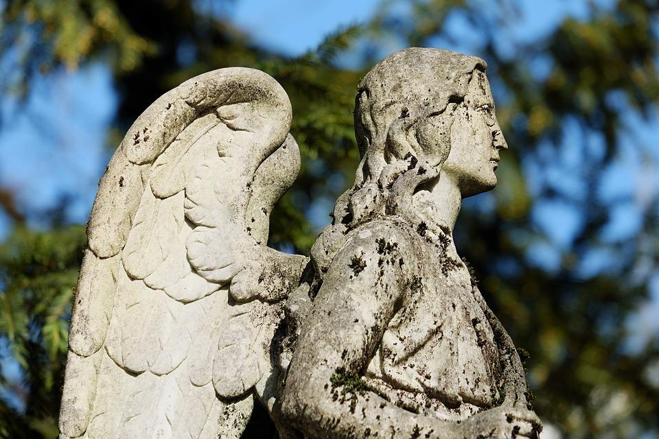 Angel, Figure, Stone Figure, Sculpture, Stone