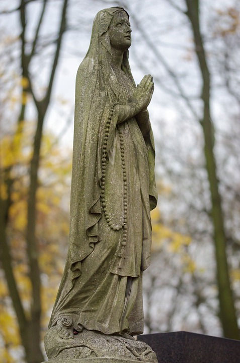 Sculpture, Stone, Statue, Figure, Woman, The Mystic