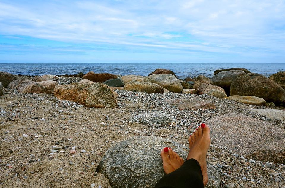 Boulders, Object, Leg, Sea, Stone, Beaches, Water