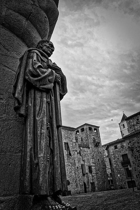 Statue, Religious, Sculpture, Christian, Stone