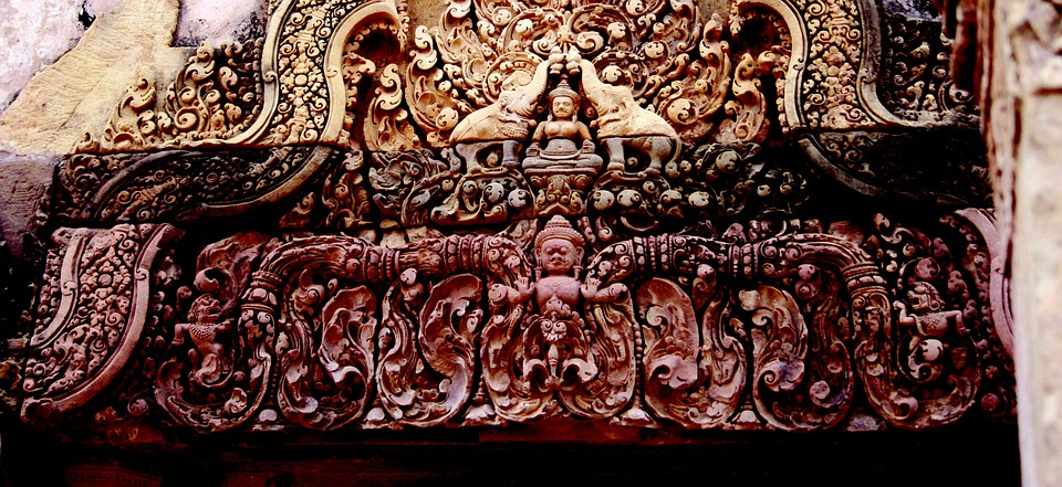 Angkor Wat, Temple, Statue, Stonework, Stone, Sculpture