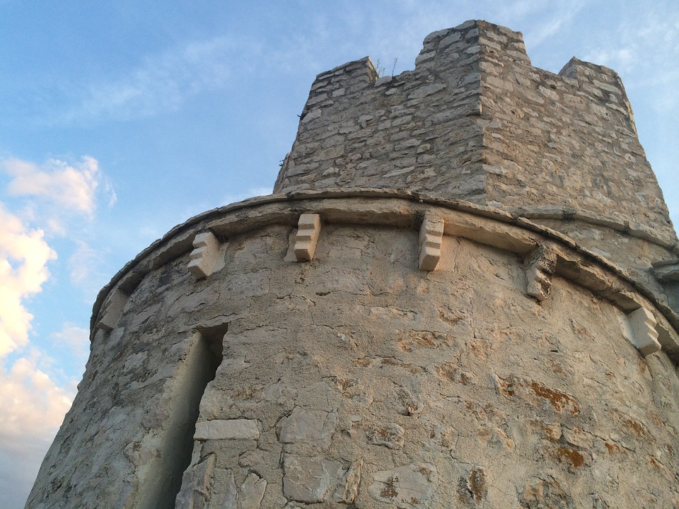 Croatia, Tower, Olg, Stone, Architecture, Blue