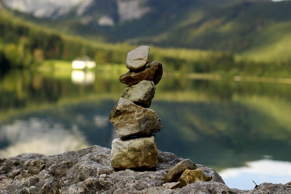 Stone Tower, Relaxation, Yoga, Balance, Meditation