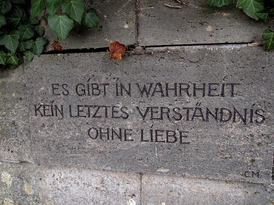 Truth, Love, Understanding, Stone, Wall